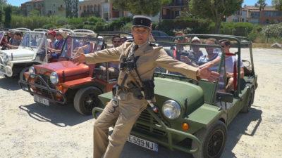 un rallye arbitré par le gendarme de Saint Tropez