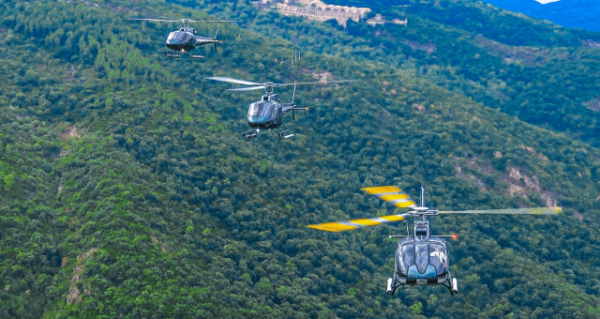 Rallye Hélico voltige, vue aérienne