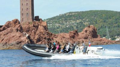 Rallye en bateau semi-rigide