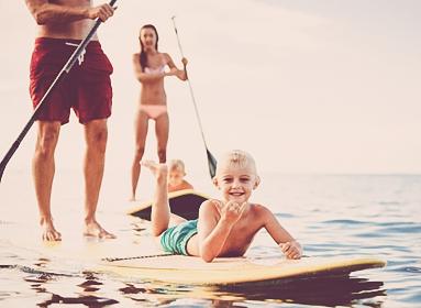 Paddle en famille sur la French Riviera